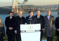 The Prime Minister Davutoğlu Inspected the Construction Site of the 3rd Bridge