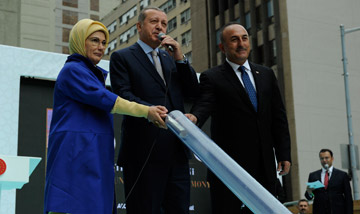 President Erdogan lays the foundation of the new Turkish Cultural...